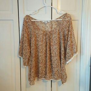 Lightweight floral blouse